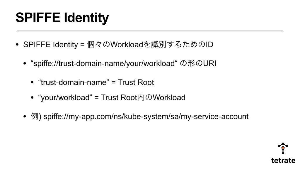 "• SPIFFE Identity = ݸʑͷWorkloadΛࣝผ͢ΔͨΊͷID • ""sp..."
