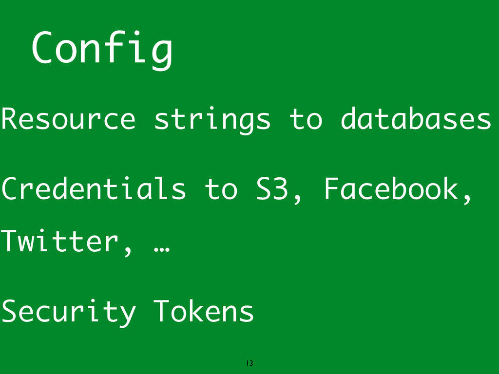 Config Resource strings to databases Credential...