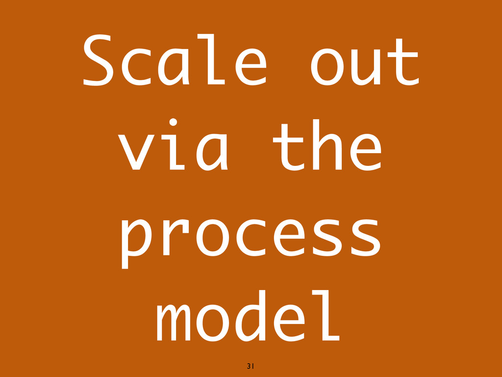 Scale out via the process model 31