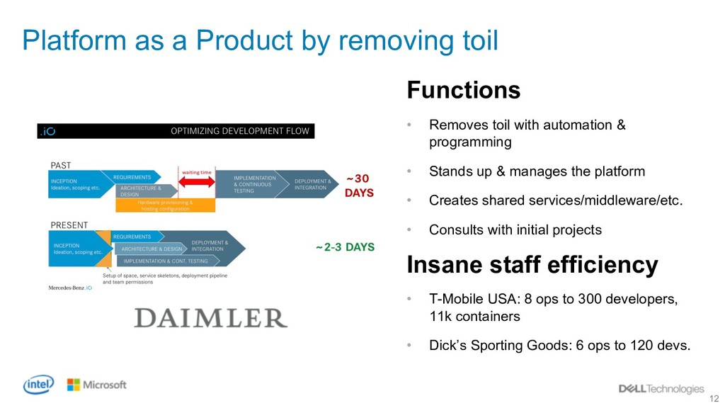 12 Platform as a Product by removing toil Funct...