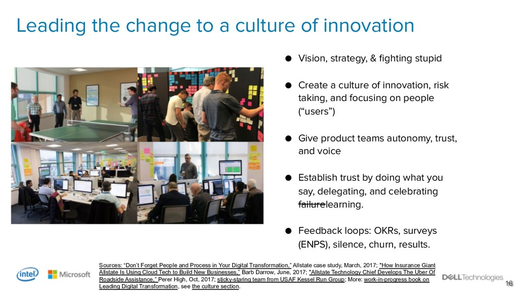 16 Leading the change to a culture of innovatio...