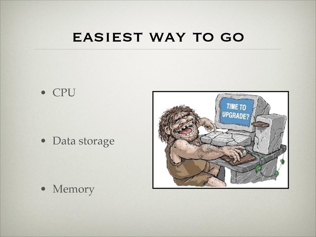 easiest way to go • CPU! ! • Data storage! ! • ...