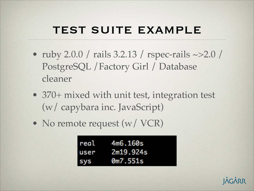 test suite example • ruby 2.0.0 / rails 3.2.13 ...