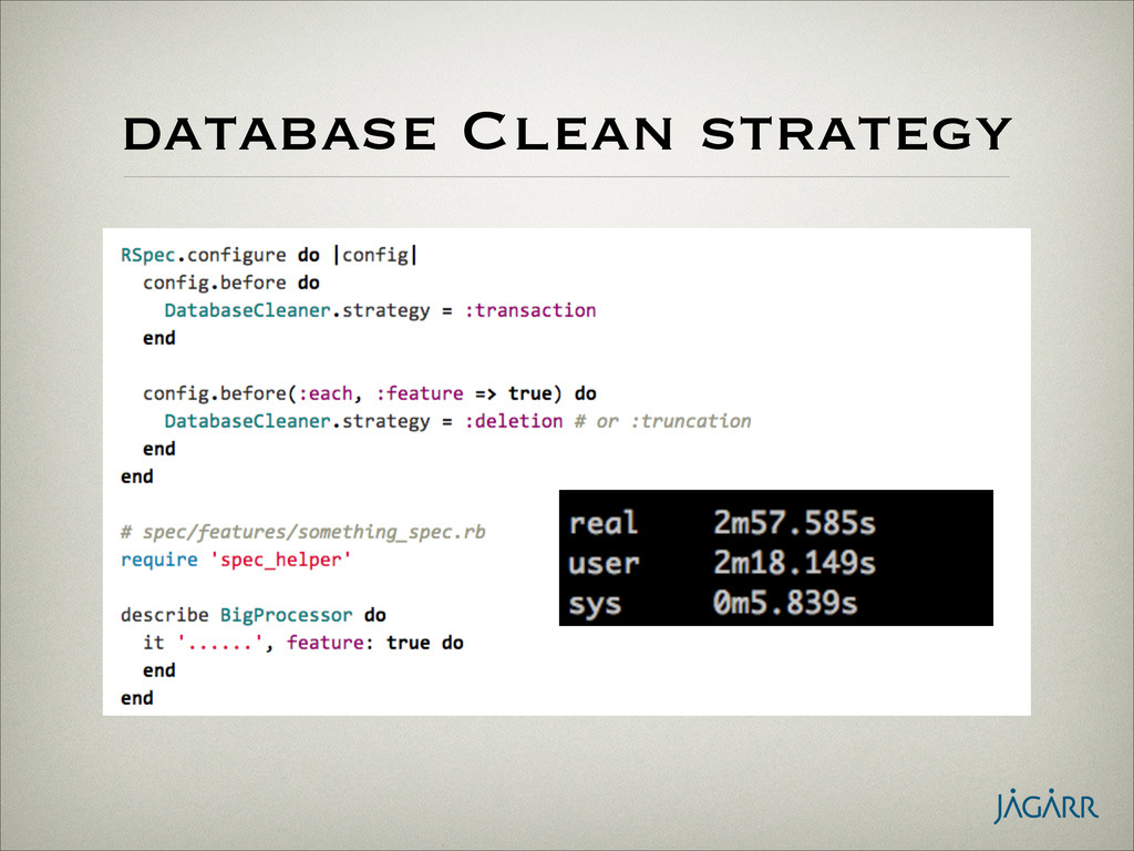 database Clean strategy