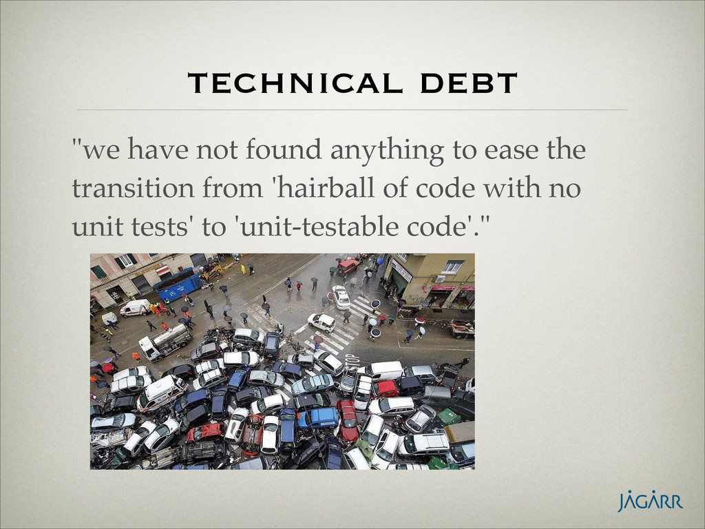 """technical debt """"we have not found anything to e..."""