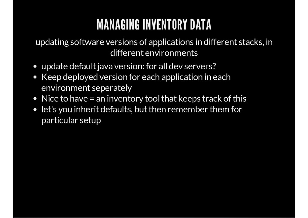 MANAGING INVENTORY DATA updating software versi...