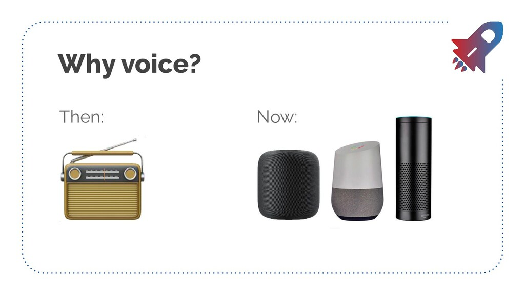 Why voice? Then: Now: