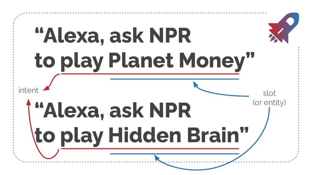 """""""Alexa, ask NPR to play Planet Money"""" """"Alexa, a..."""