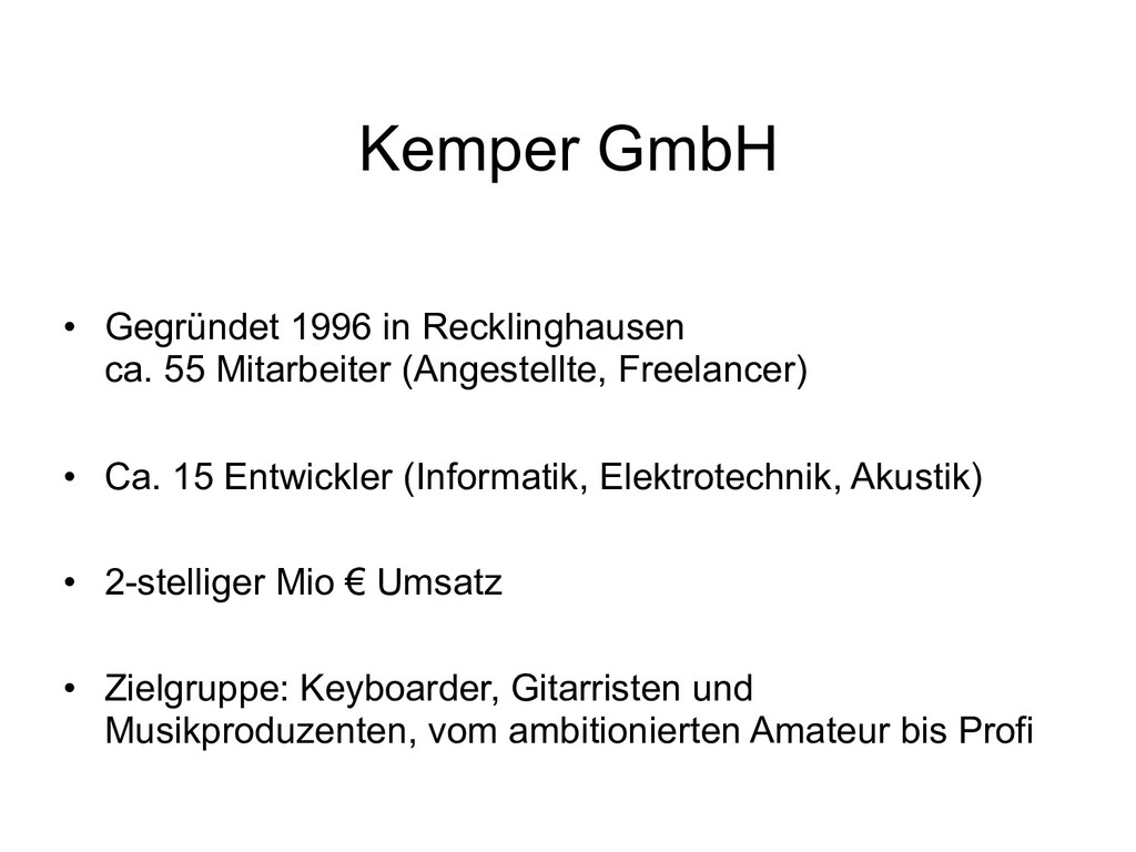 Kemper GmbH • Gegründet 1996 in Recklinghausen...