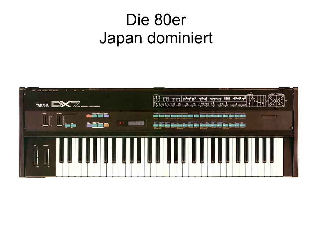 Die 80er Japan dominiert