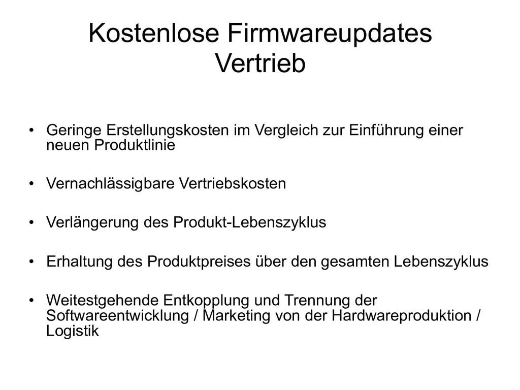 Kostenlose Firmwareupdates Vertrieb • Geringe ...