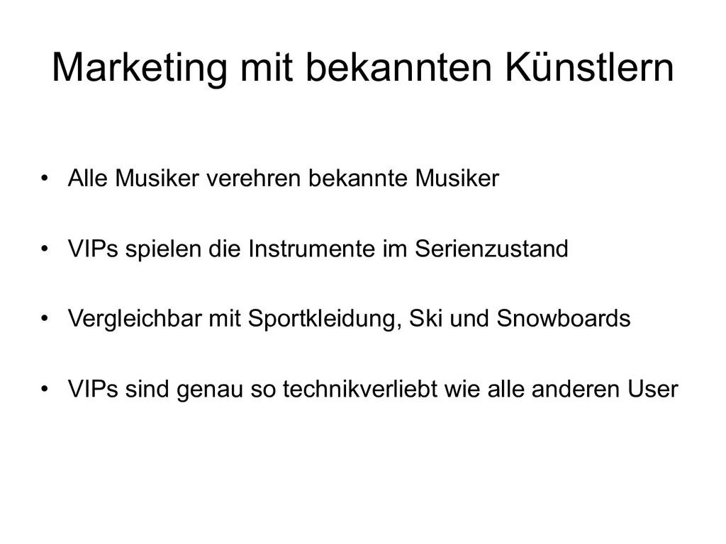 Marketing mit bekannten Künstlern • Alle Musike...