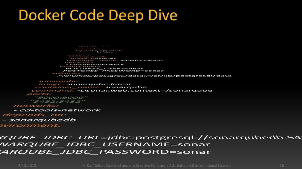 Docker Code Deep Dive 4/10/2018 © Kai Tödter, L...
