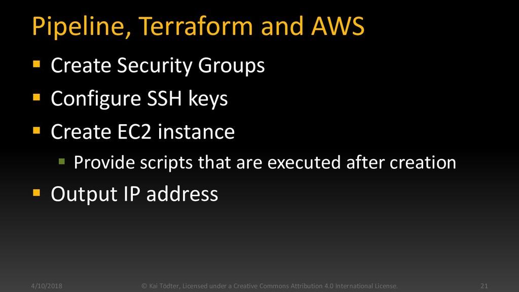 Pipeline, Terraform and AWS  Create Security G...