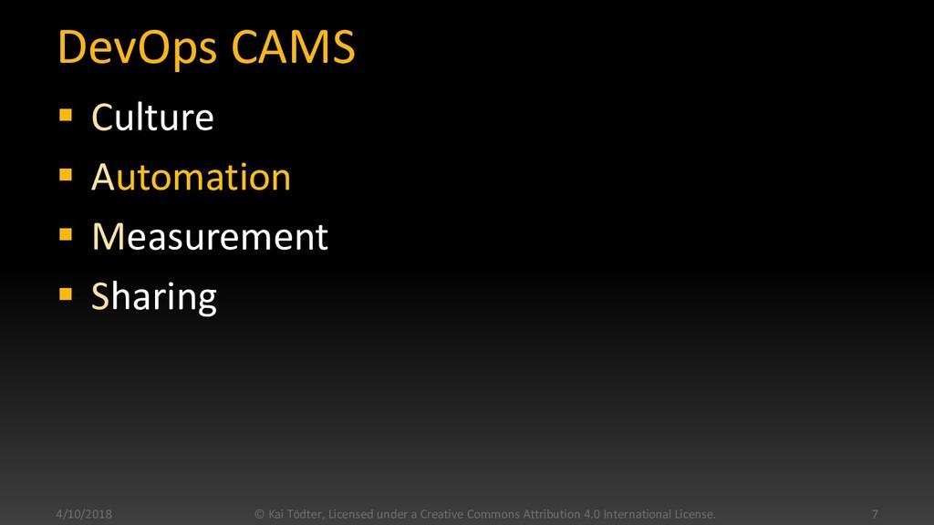 DevOps CAMS  Culture  Automation  Measuremen...