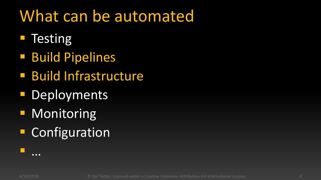 What can be automated  Testing  Build Pipelin...