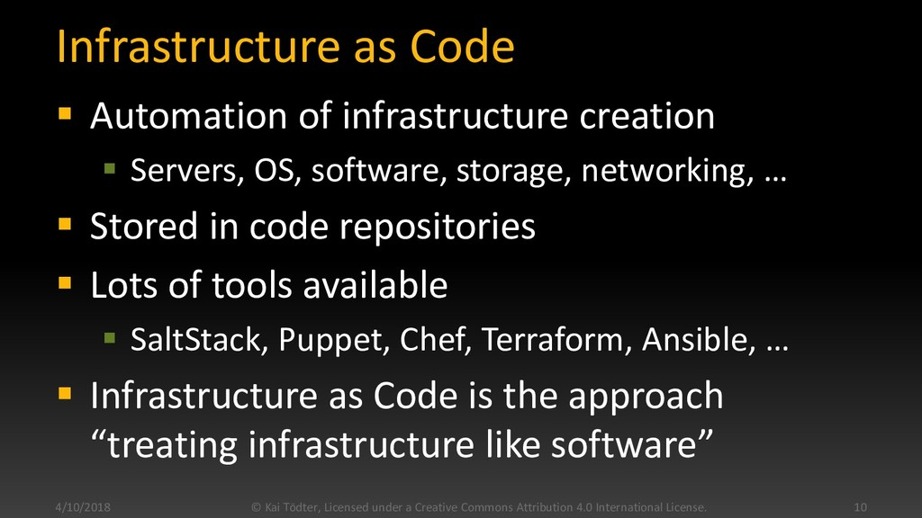 Infrastructure as Code  Automation of infrastr...