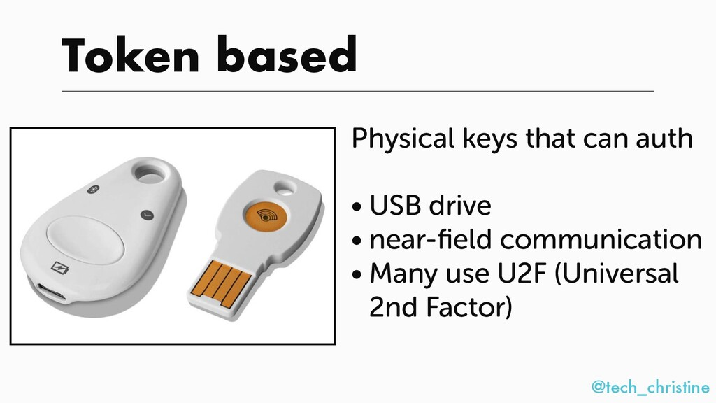 @tech_christine Token based Physical keys that ...