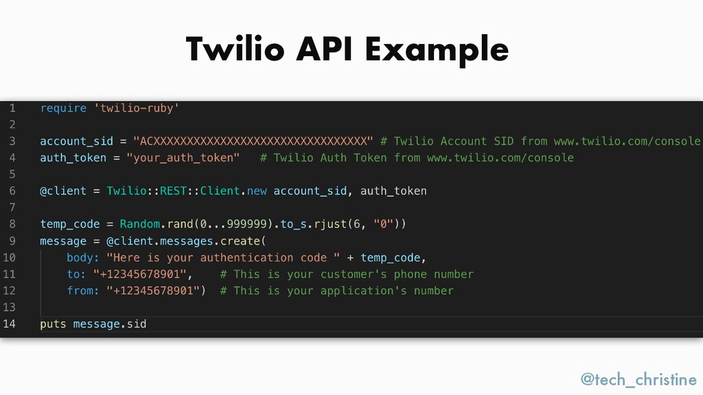 @tech_christine Twilio API Example