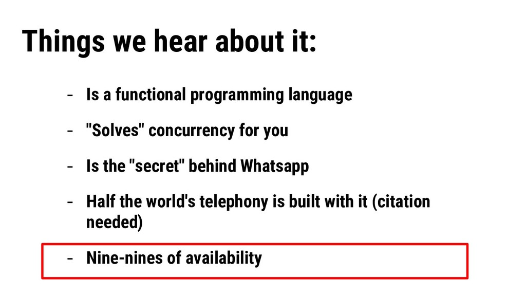 """- Is a functional programming language - """"Solve..."""