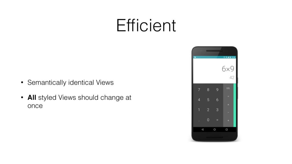 Efficient • Semantically identical Views • All s...