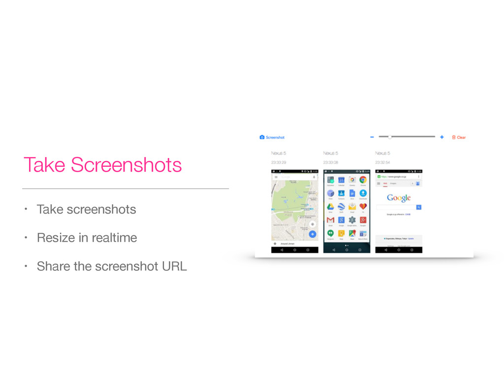 Take Screenshots • Take screenshots  • Resize i...