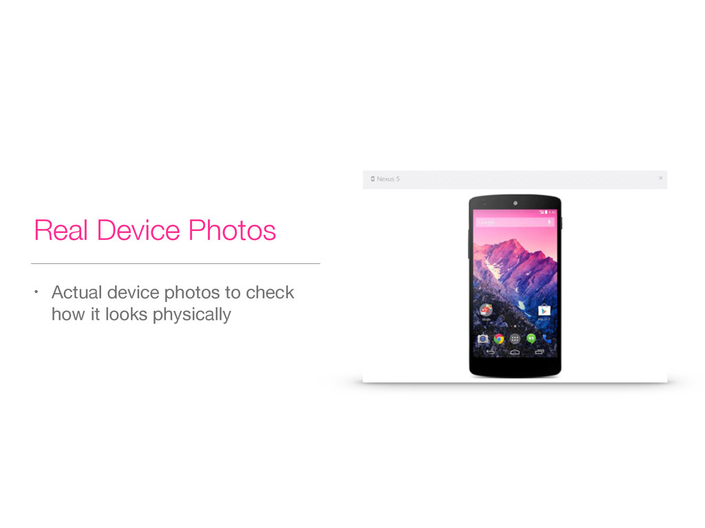 Real Device Photos • Actual device photos to ch...