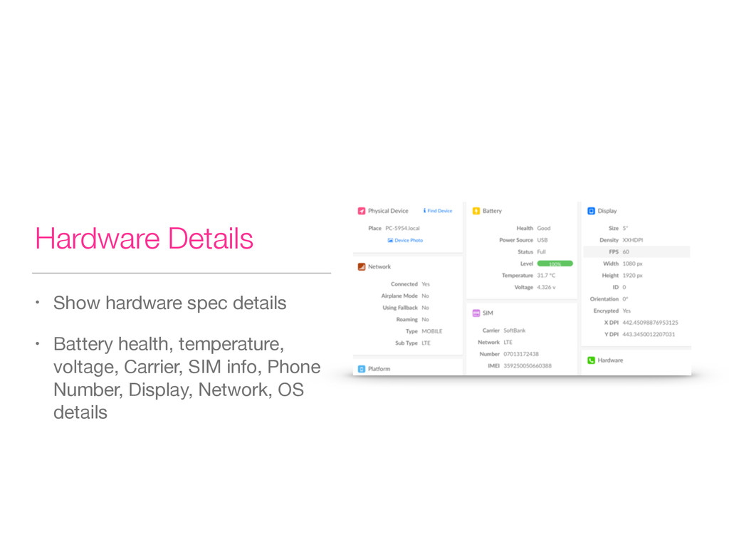 Hardware Details • Show hardware spec details  ...