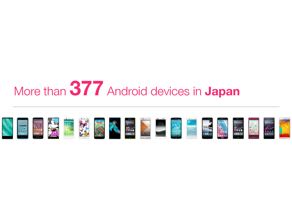 More than 377 Android devices in Japan