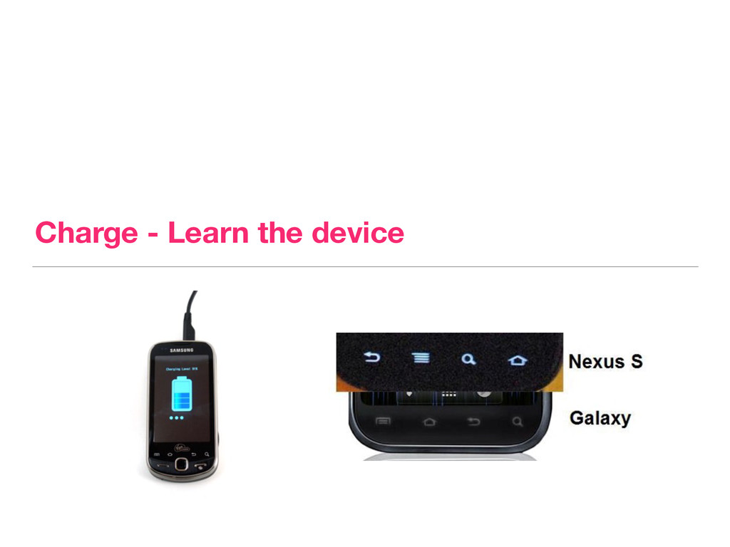 Charge - Learn the device