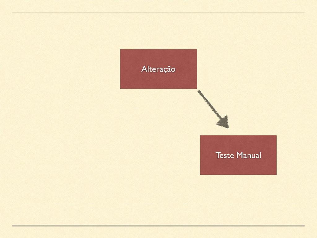 Alteração Teste Manual