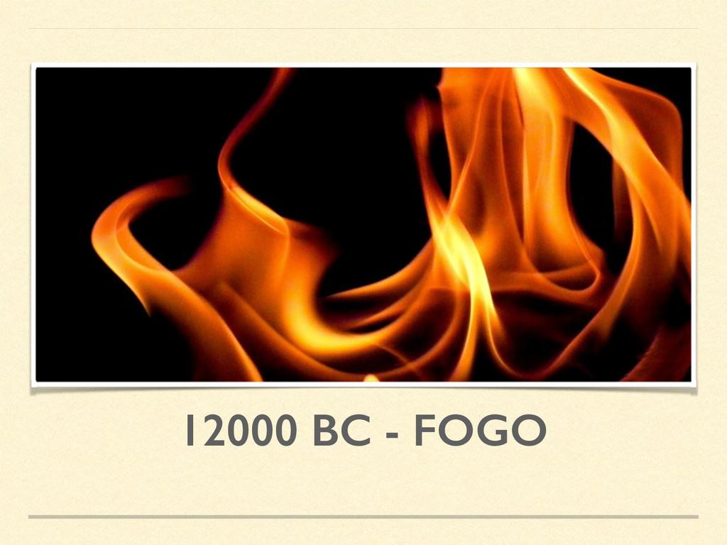 12000 BC - FOGO