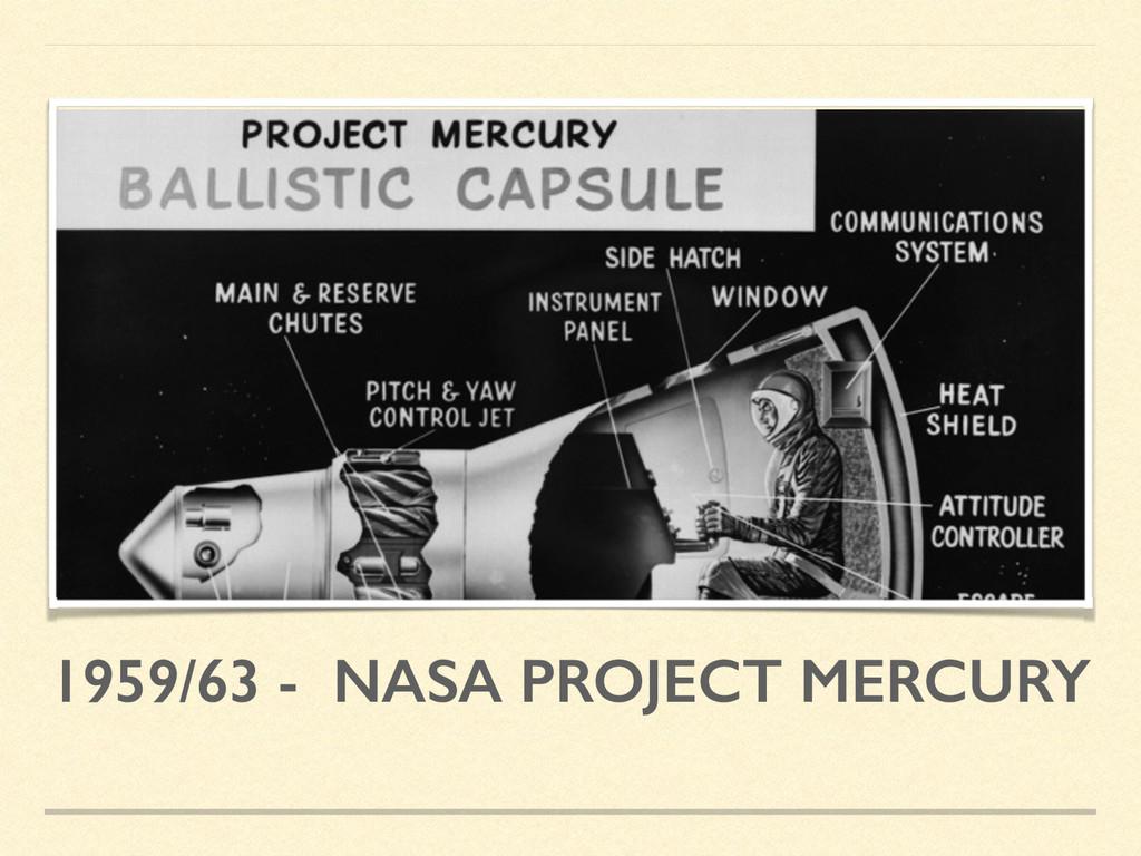 1959/63 - NASA PROJECT MERCURY