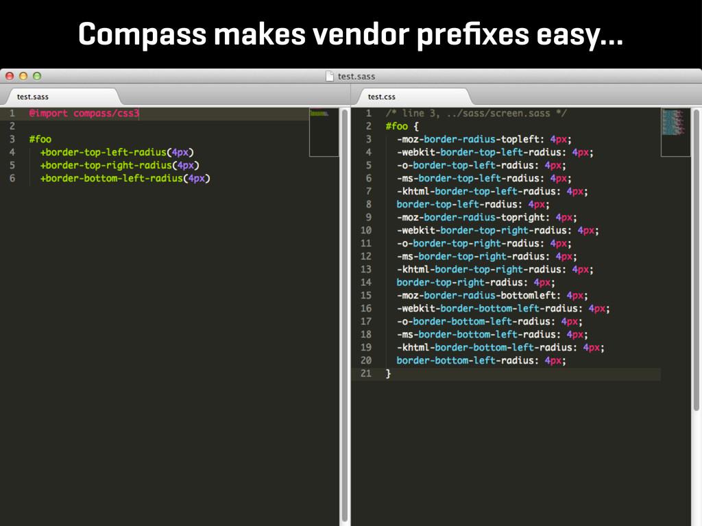 Compass makes vendor prefixes easy...
