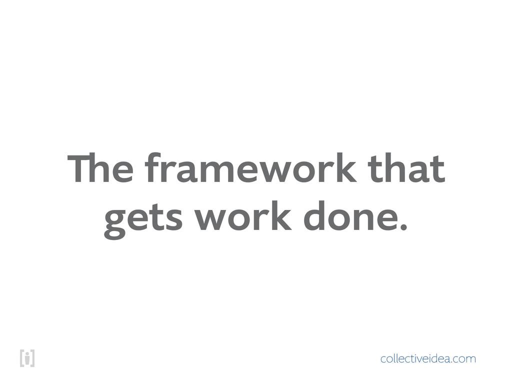 collectiveidea.com The framework that gets work...