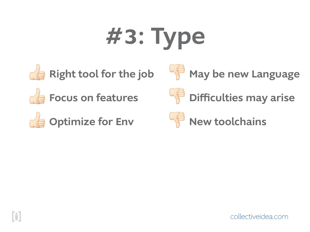 collectiveidea.com #3: Type ! Right tool for th...