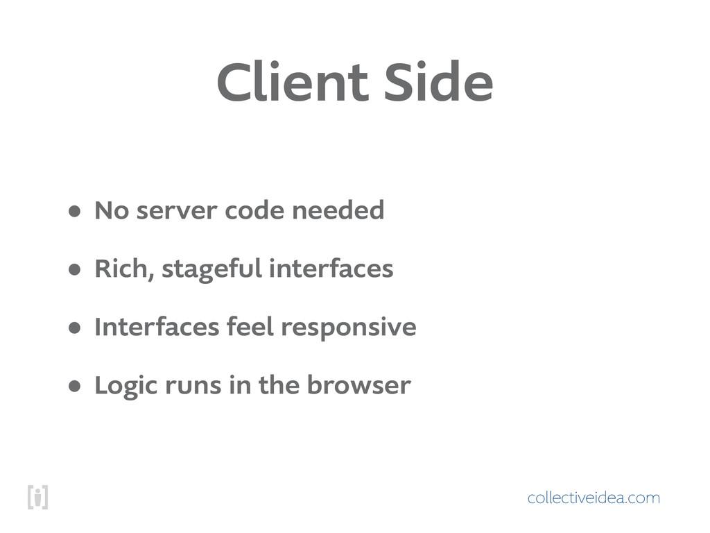 collectiveidea.com Client Side • No server code...