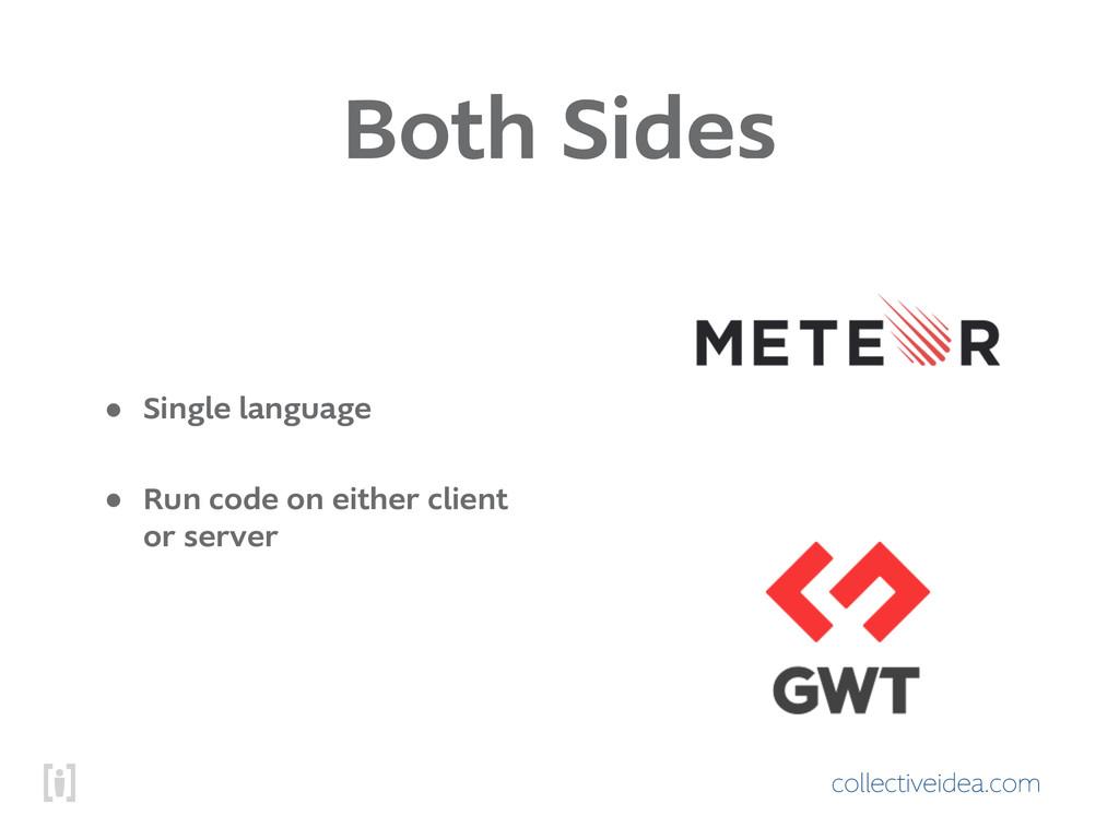 collectiveidea.com Both Sides • Single language...