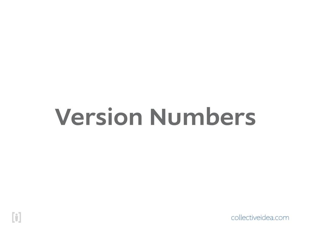 collectiveidea.com Version Numbers