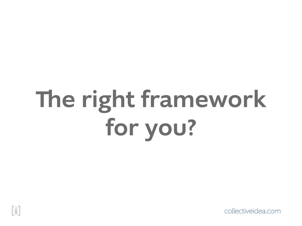 collectiveidea.com The right framework for you?