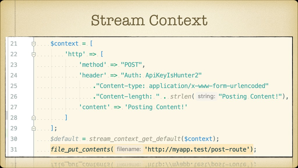 Stream Context