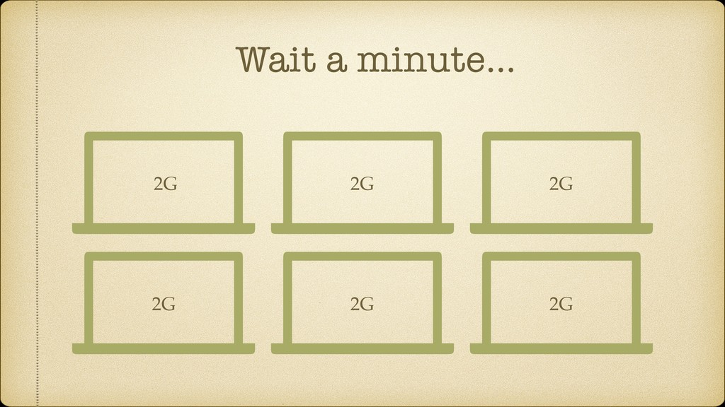 Wait a minute… 2G 2G 2G 2G 2G 2G