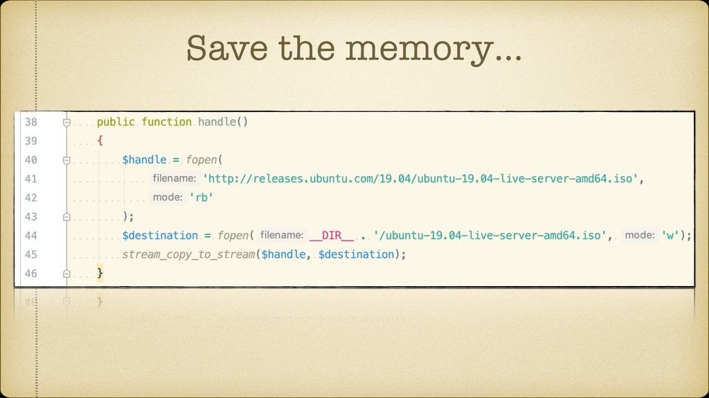 Save the memory…