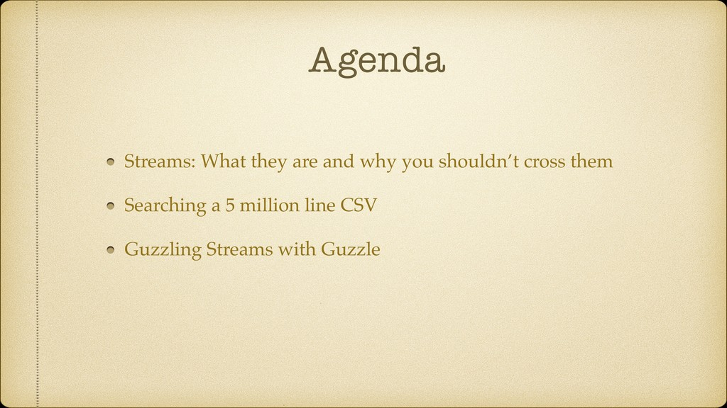 Agenda Streams: What they are and why you shoul...