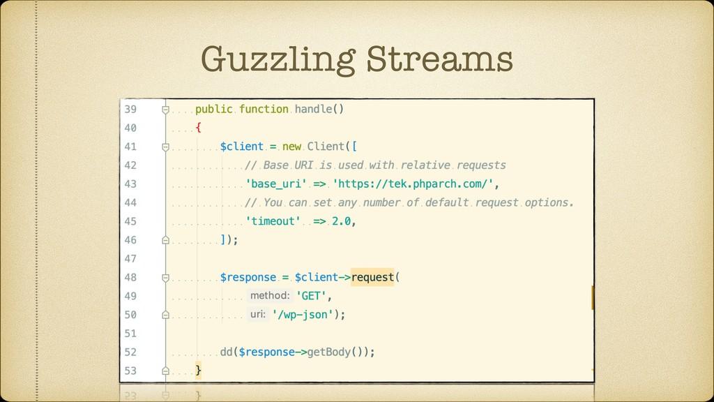 Guzzling Streams