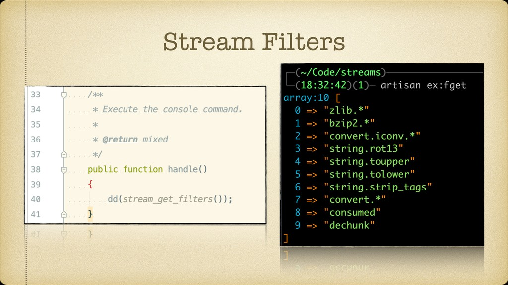 Stream Filters
