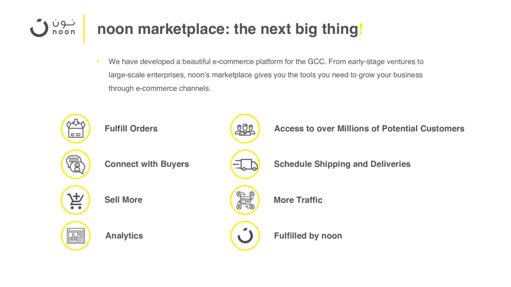 noon marketplace: the next big thing! • We have...
