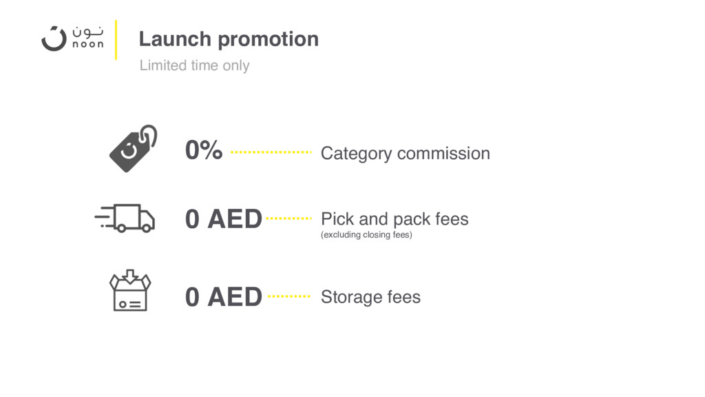 Launch promotion Category commission 0% Pick an...