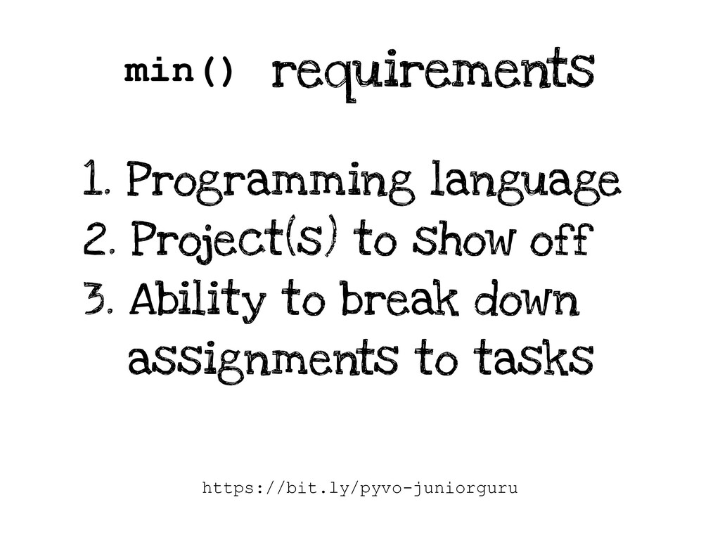 requirements 1. Programming language 2. Project...