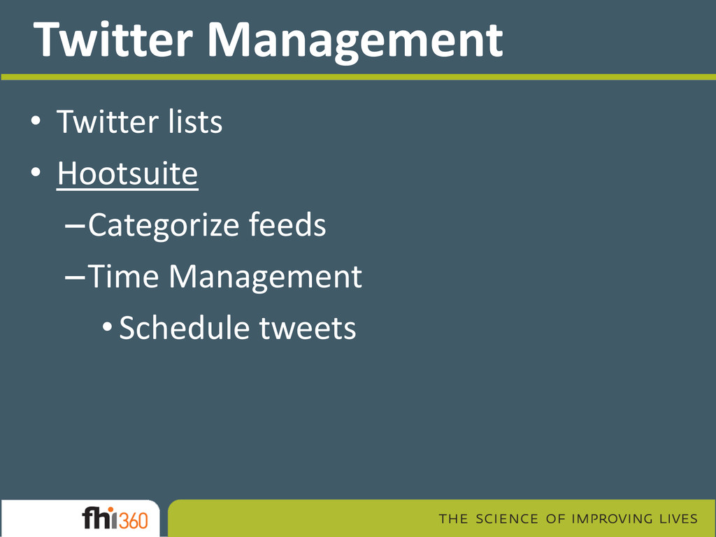Twitter Management • Twitter lists • Hootsuite ...